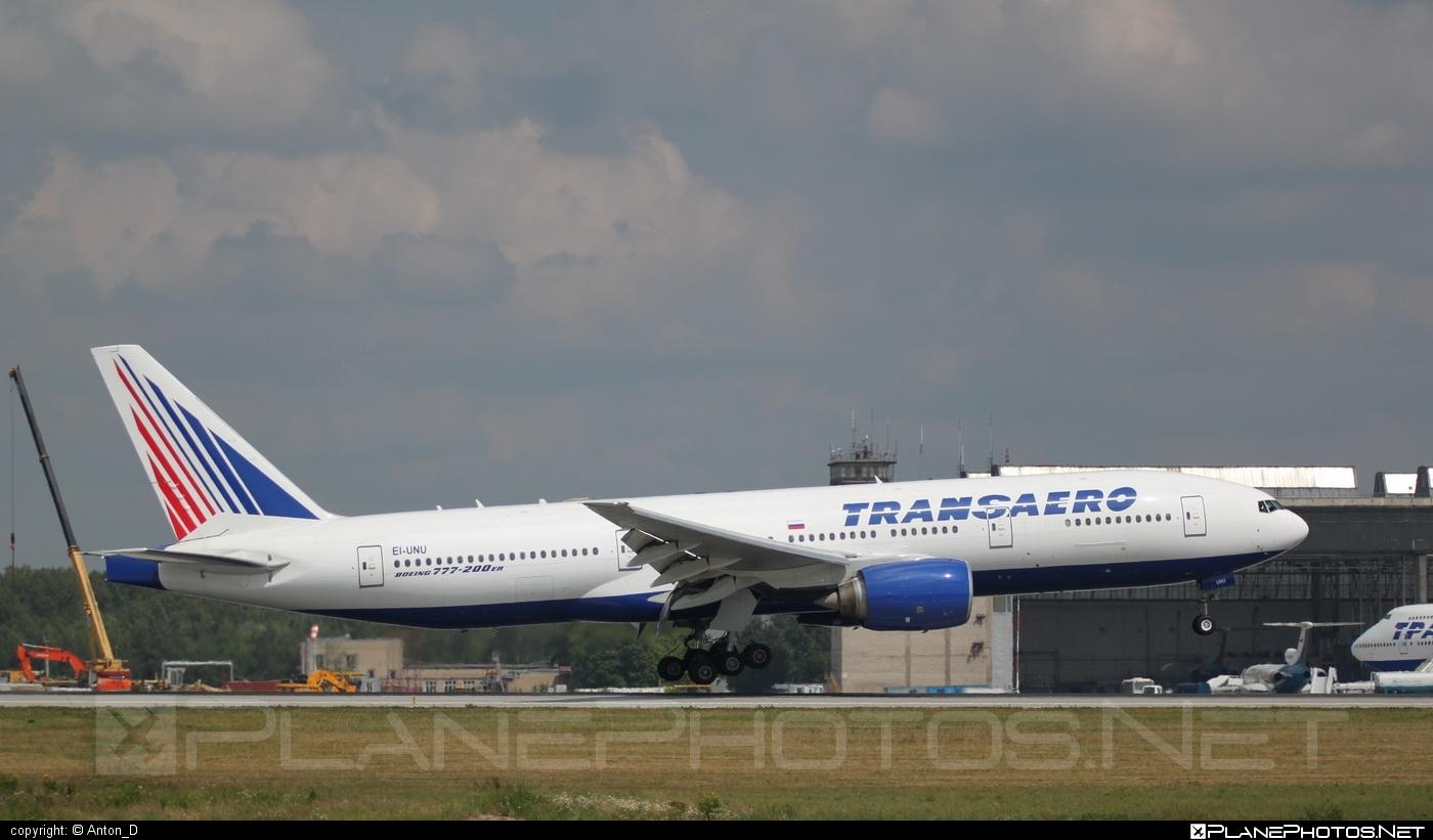 Boeing 777-200ER - EI-UNU operated by Transaero Airlines #b777 #b777er #boeing #boeing777 #tripleseven