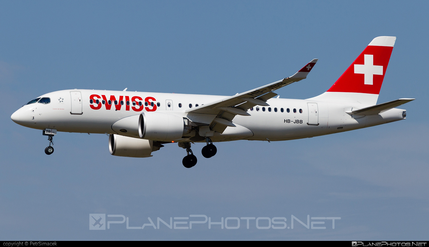 Bombardier BD-500-1A10 C Series CS100 - HB-JBB operated by Swiss Global Air Lines #bombardier #cs100 #cseries #cseries100