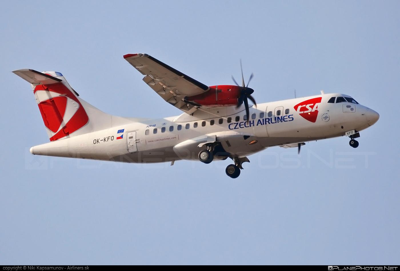 ATR 42-500 - OK-KFO operated by CSA Czech Airlines #atr #atr42 #atr42500 #csa #czechairlines