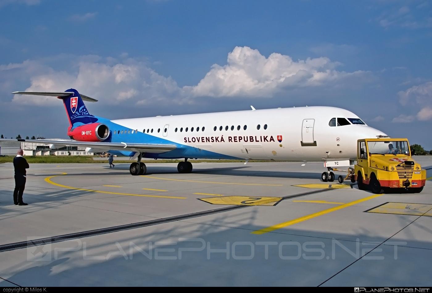 Fokker 100EJ - OM-BYC operated by Letecký útvar MV SR (Slovak Government Flying Service) #SlovakGovernmentFlyingService #fokker #leteckyutvarMVSR