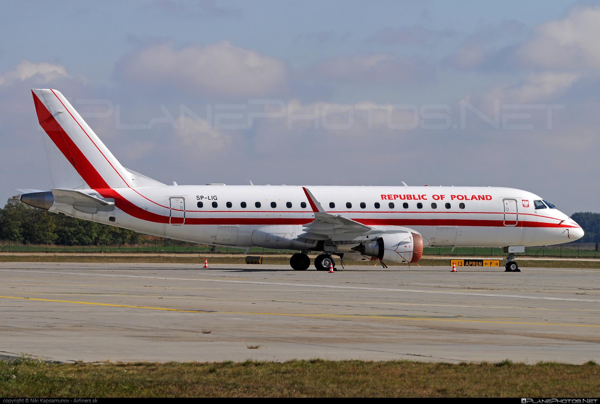 Embraer E175LR (ERJ-170-200LR) - SP-LIG operated by Poland - Government #e175 #embraer #embraer175 #embraer175lr #erj170200 #erj170200lr #erj175 #erj175lr