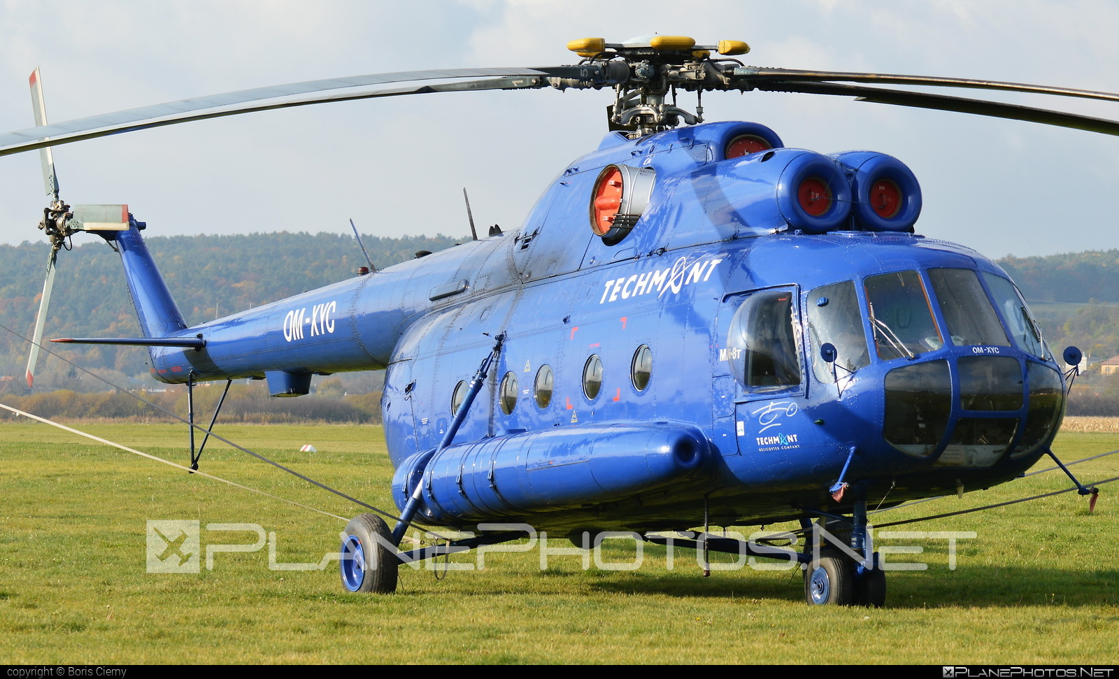 Mil Mi-8T - OM-XYC operated by TECH-MONT Helicopter company #mil #milhelicopters