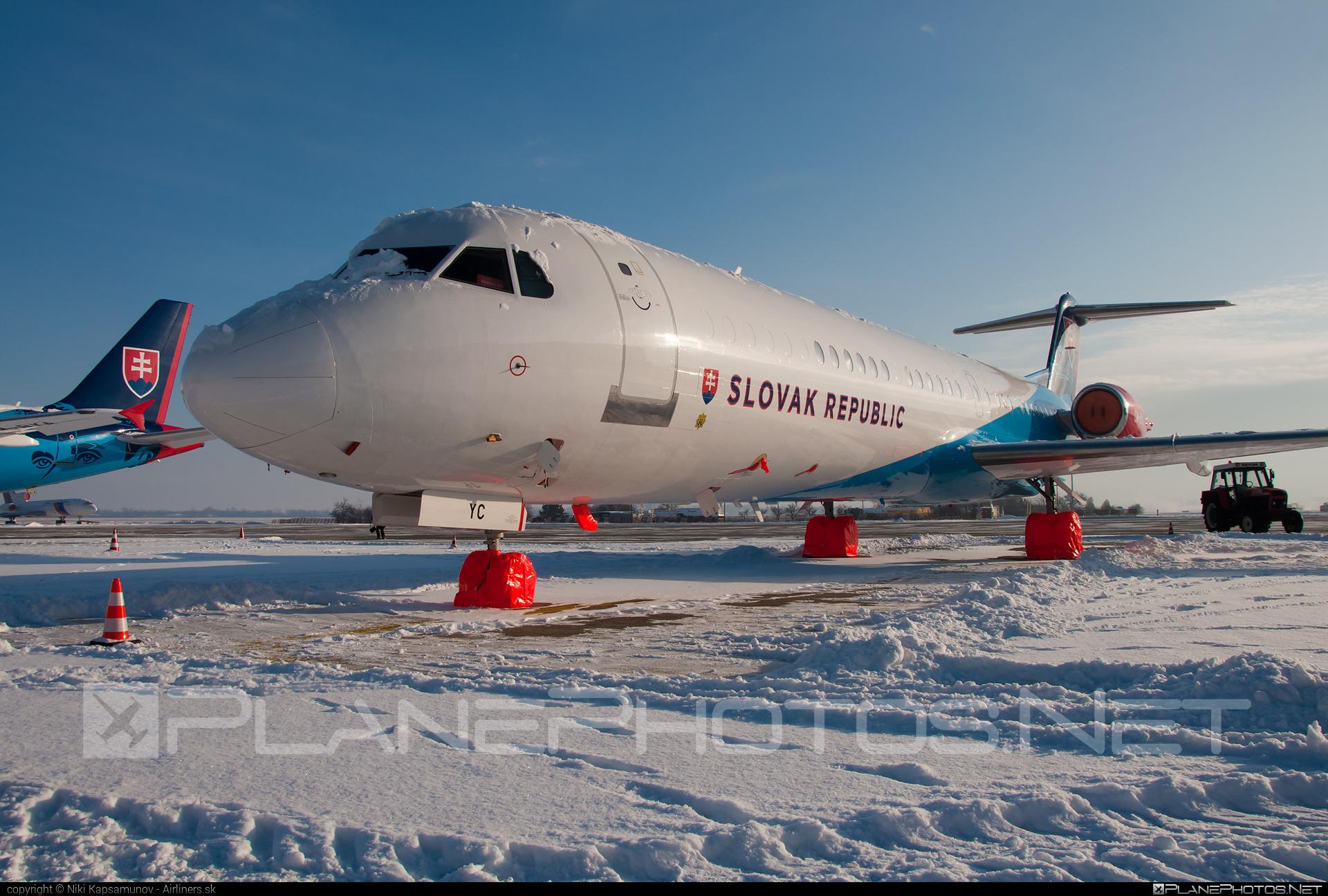 Letecký útvar MV SR (Slovak Government Flying Service) Fokker 100EJ - OM-BYC