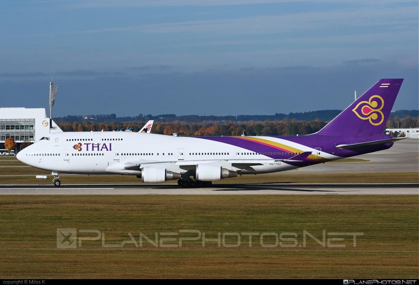Boeing 747-400 - HS-TGZ operated by Thai Airways #b747 #boeing #boeing747 #jumbo #thaiairways