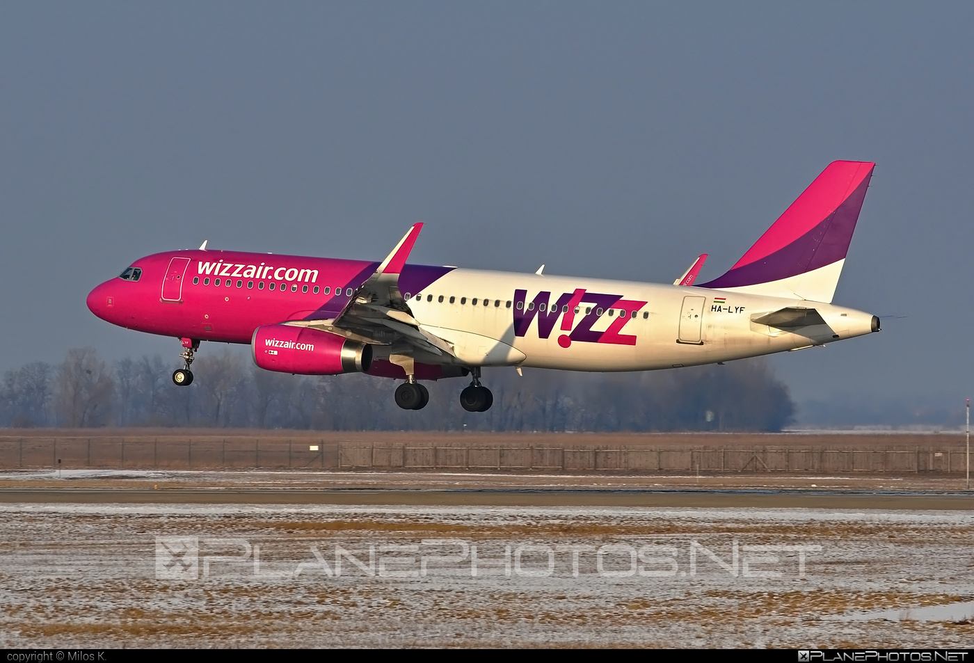 Airbus A320-232 - HA-LYF operated by Wizz Air #a320 #a320family #airbus #airbus320 #wizz #wizzair