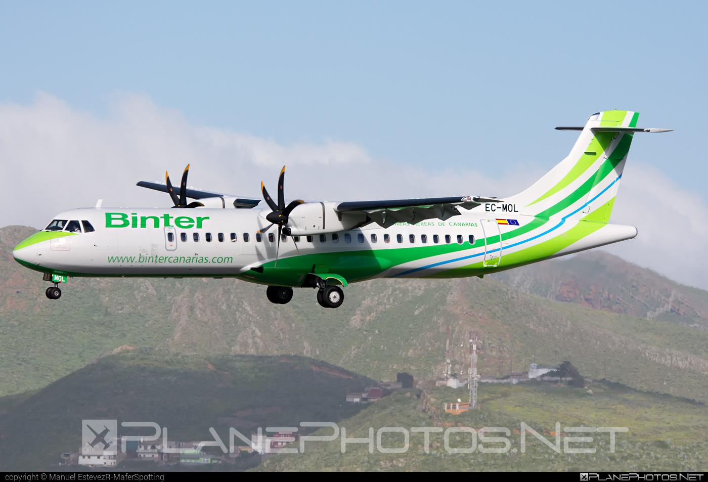 ATR 72-600 - EC-MOL operated by Binter Canarias #atr