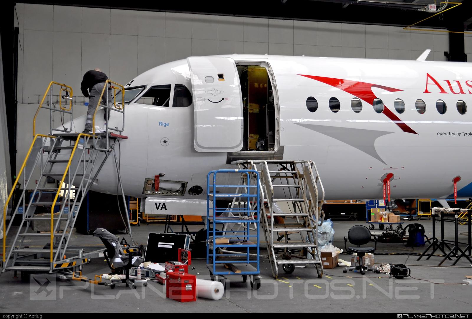 Fokker 100 - OE-LVA operated by Austrian arrows (Tyrolean Airways) #fokker