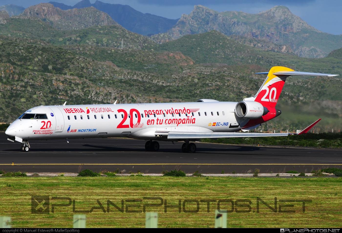 Bombardier CRJ900LR - EC-JNB operated by Iberia Regional (Air Nostrum) #airnostrum #bombardier #crj900 #crj900lr #iberia #iberiaregional