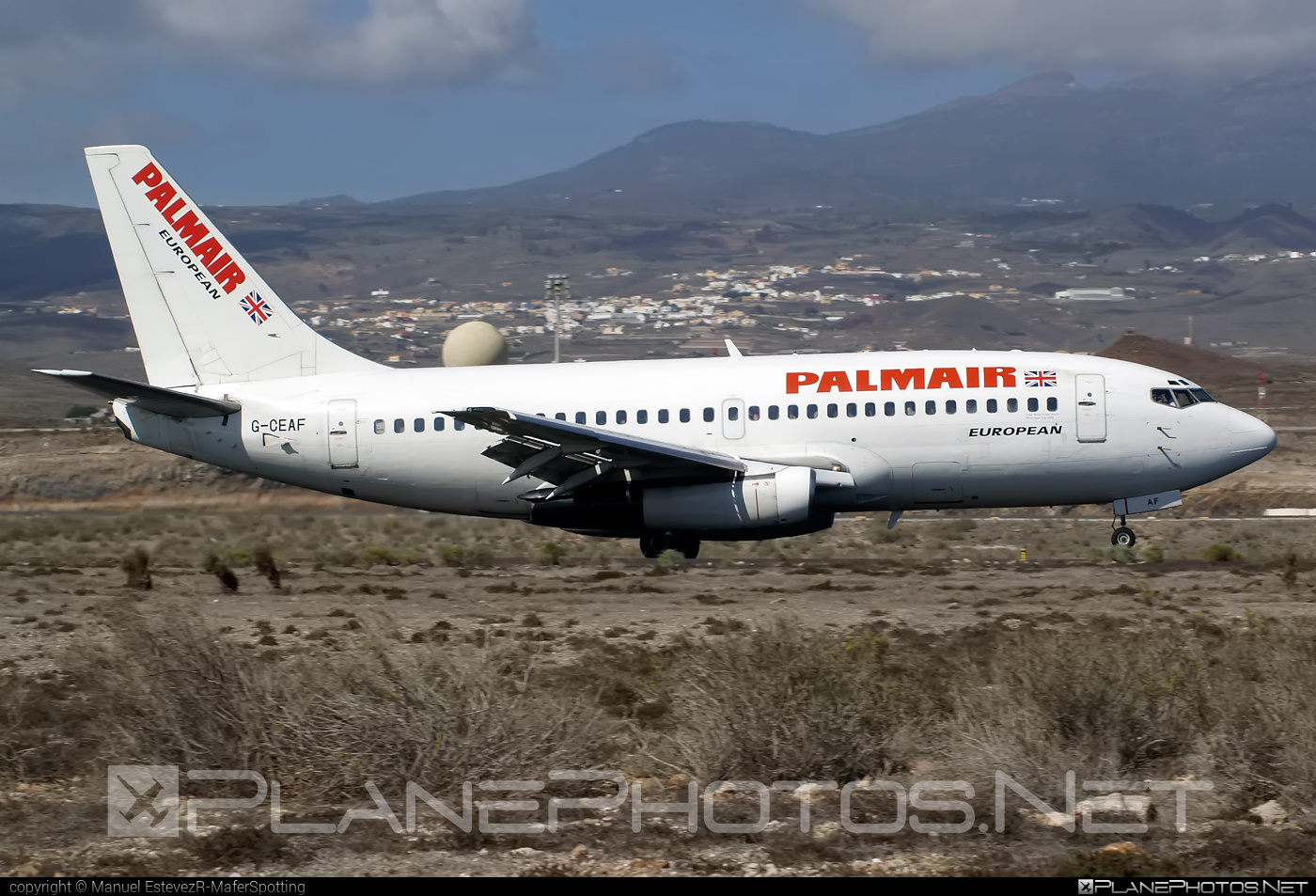 Boeing 737-200 - G-CEAF operated by Palmair #b737 #boeing #boeing737