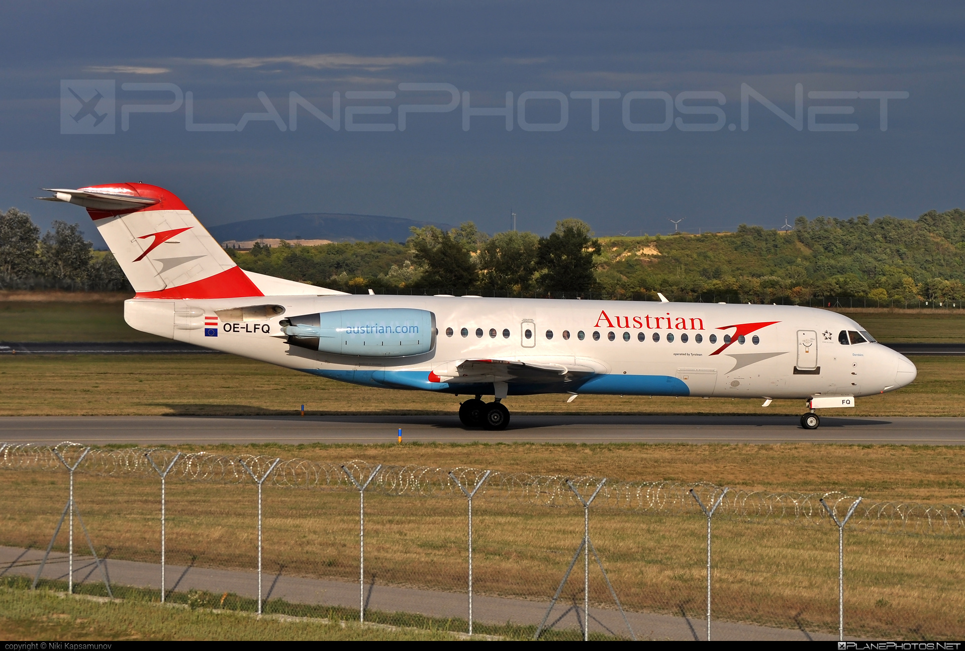 Fokker 70 - OE-LFQ operated by Austrian Airlines #fokker