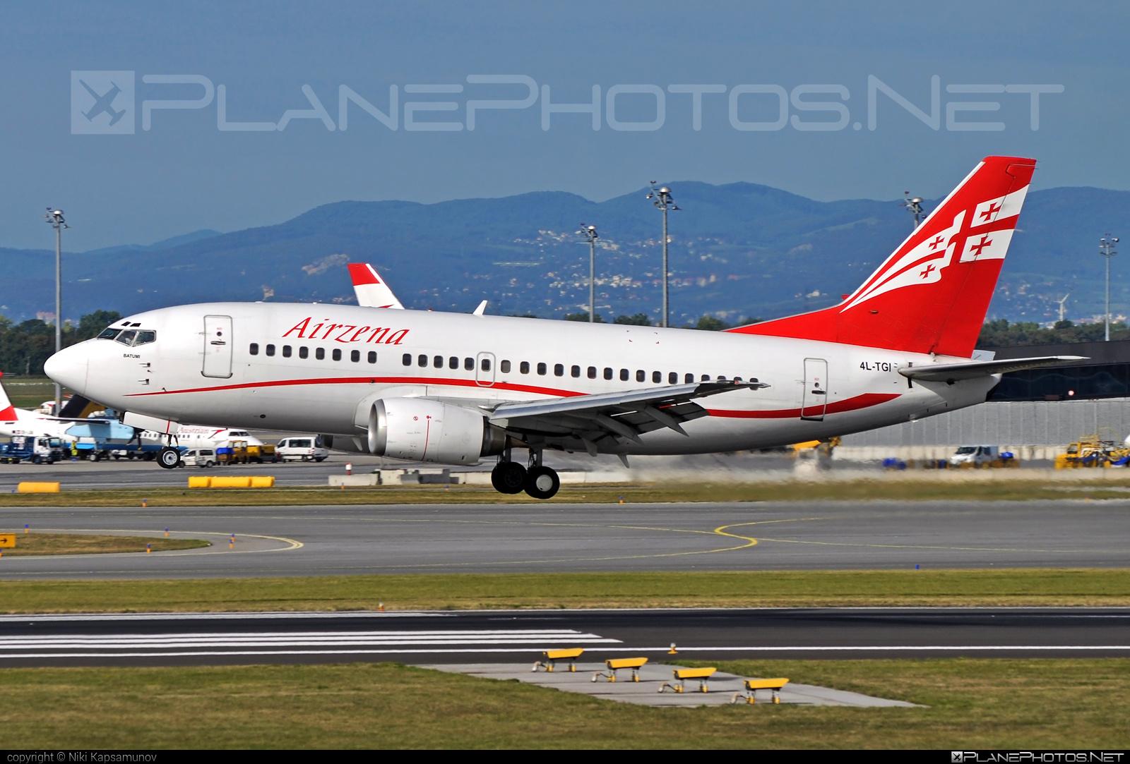 Boeing 737-500 - 4L-TGI operated by Georgian Airways - Airzena #airzena #b737 #boeing #boeing737 #georgianairways