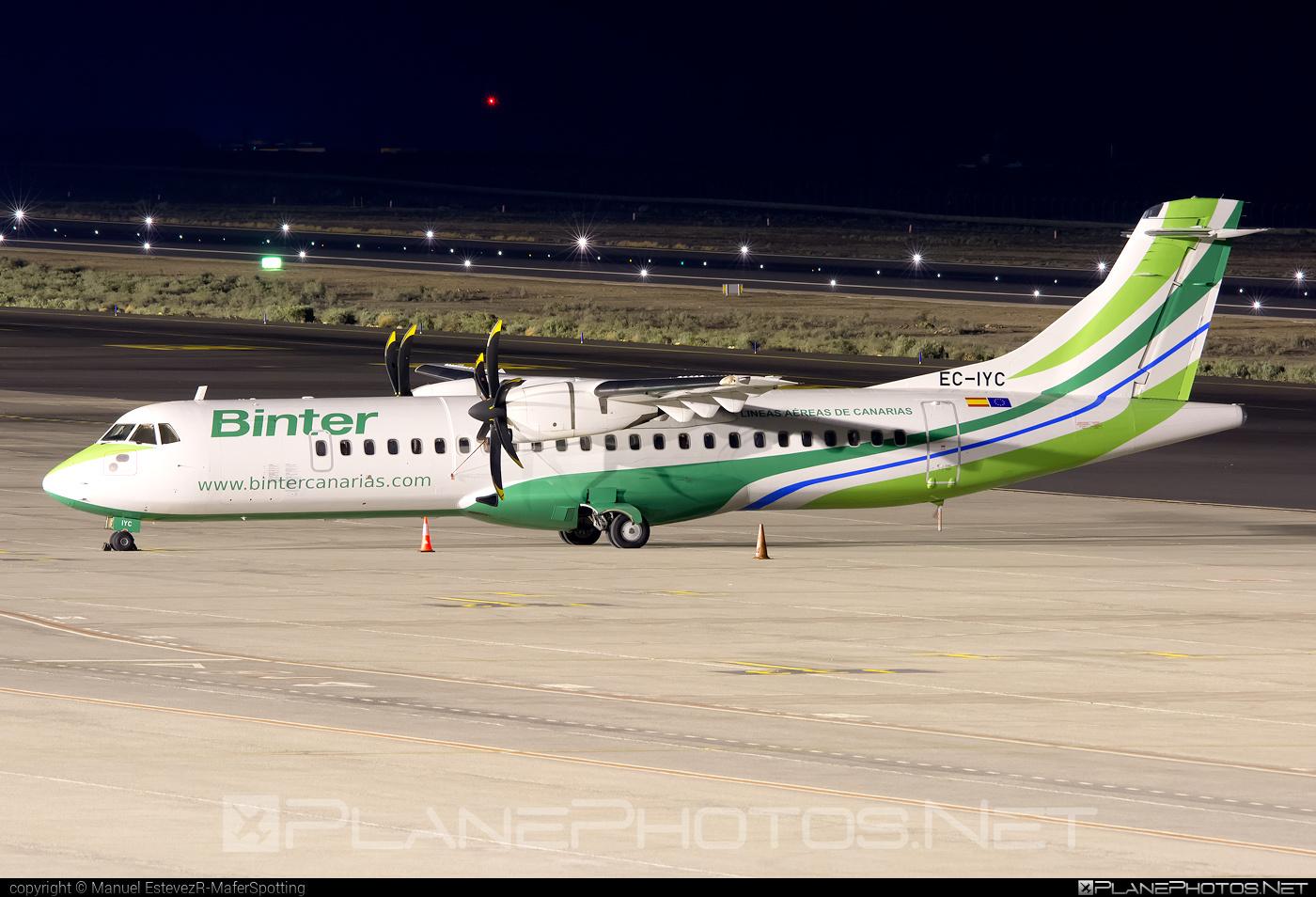 ATR 72-212A - EC-IYC operated by Binter Canarias #atr