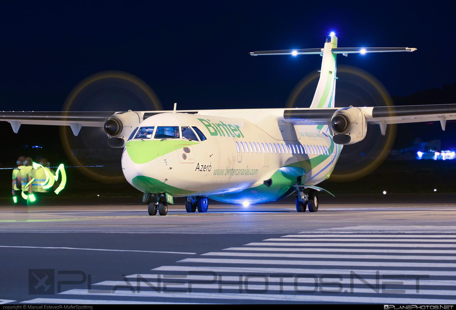 ATR 72-212A - EC-KRY operated by Binter Canarias #atr