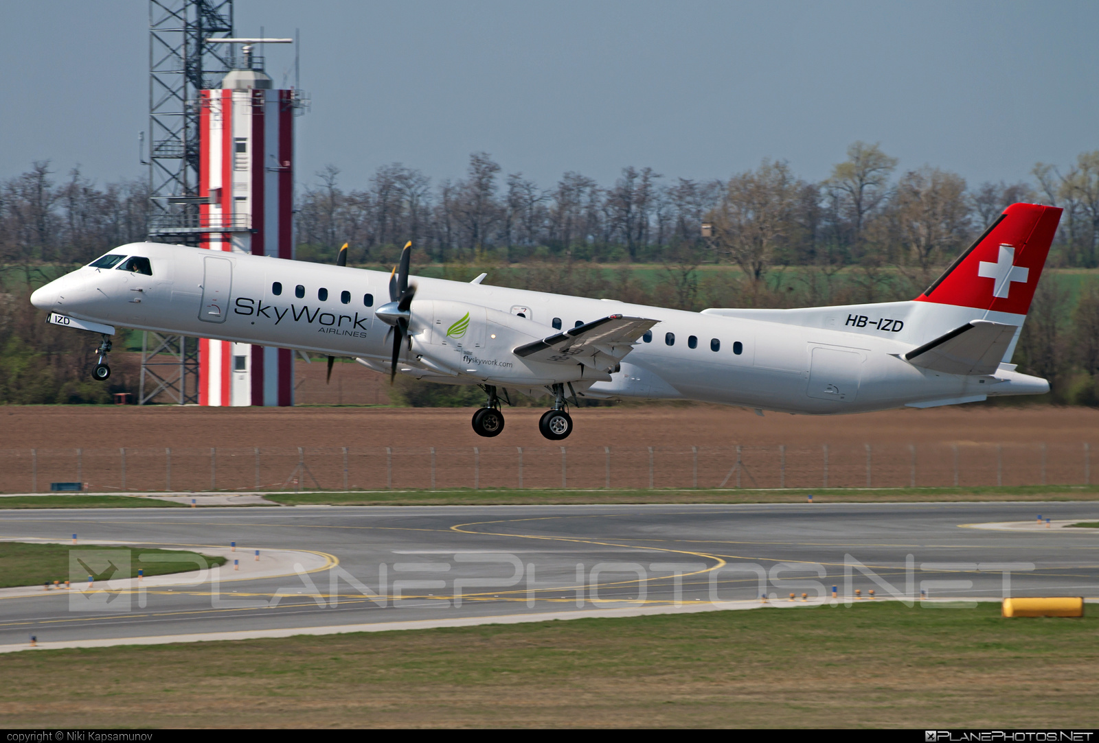 SkyWork Airlines Saab 2000 - HB-IZD #saab