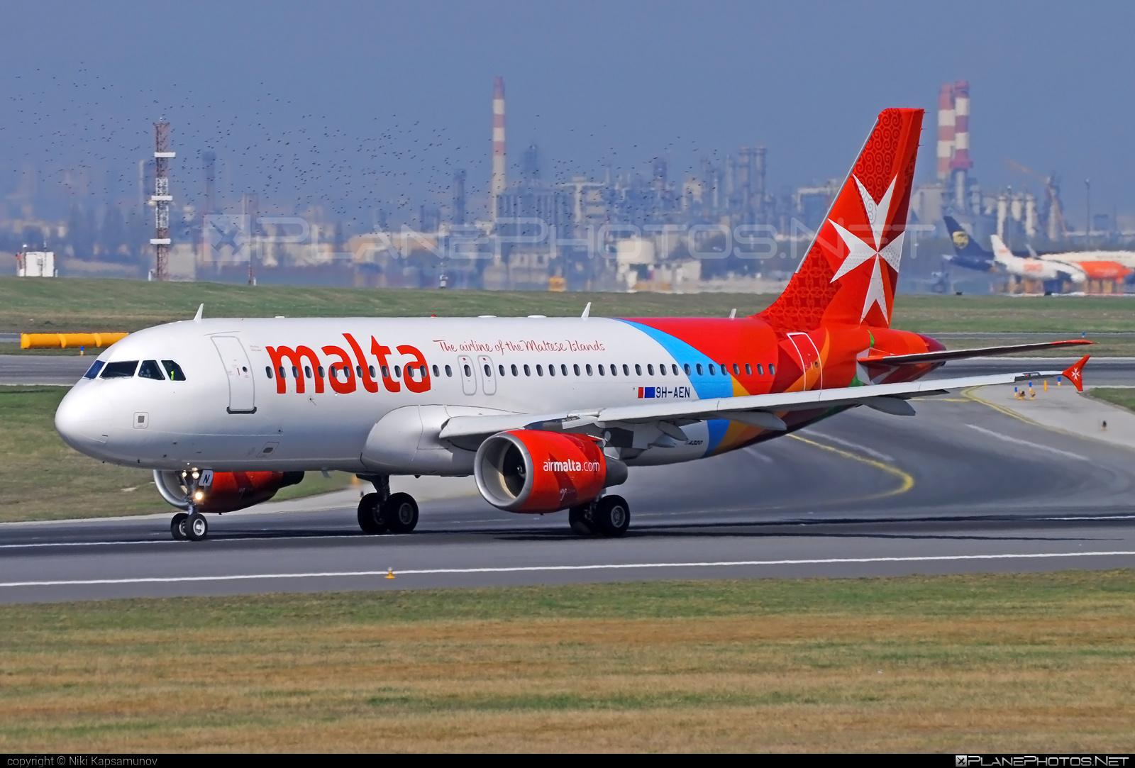 Airbus A320-214 - 9H-AEN operated by Air Malta #a320 #a320family #airbus #airbus320 #airmalta