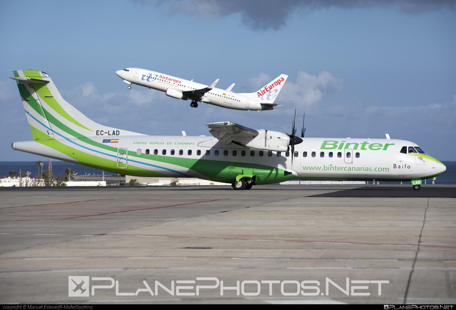 ATR 72-212A - EC-LAD operated by Binter Canarias #atr