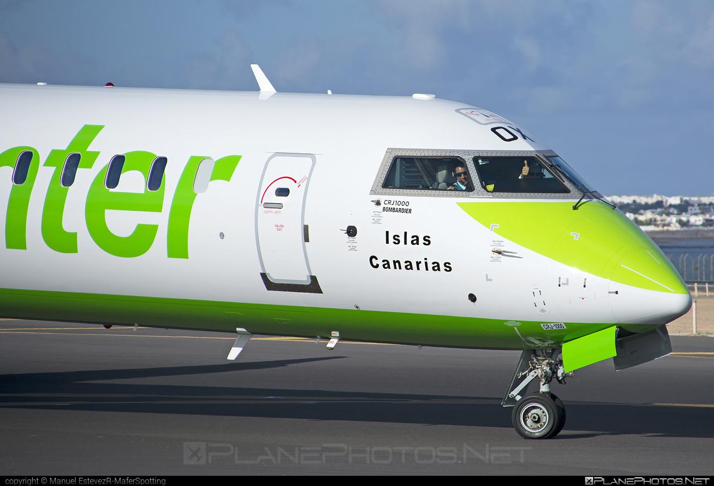 Bombardier CRJ1000 - EC-MOX operated by Binter Canarias #bombardier #crj1000