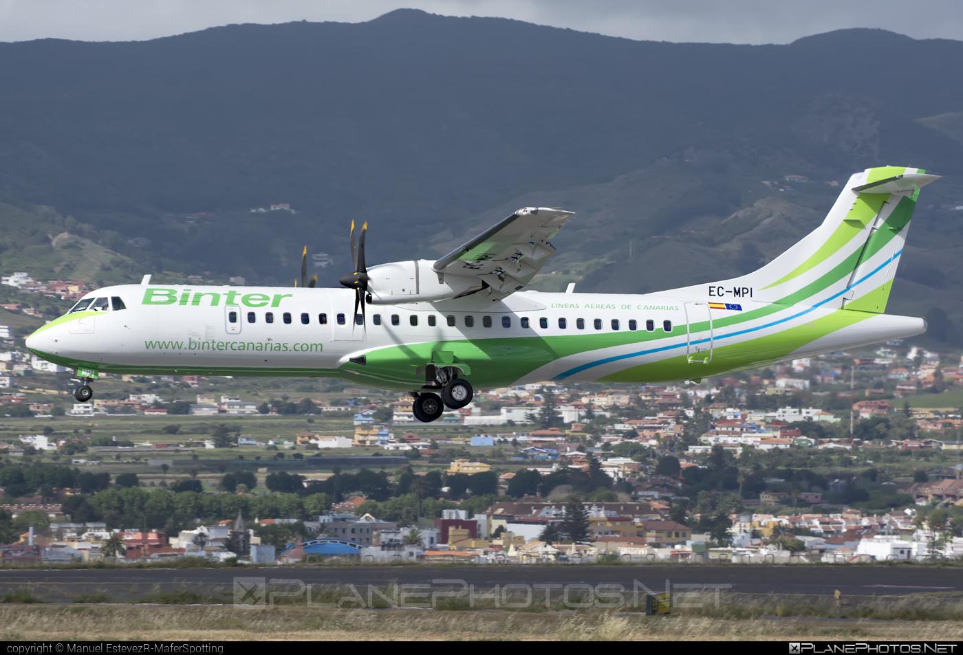 ATR 72-600 - EC-MPI operated by Binter Canarias #atr