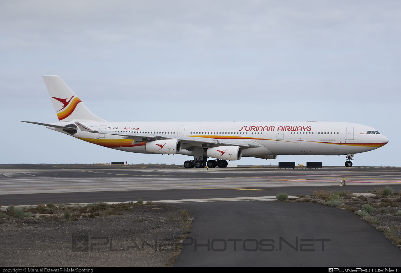 Airbus A340-313 - PZ-TCR operated by Surinam Airways #a340 #a340family #airbus #airbus340