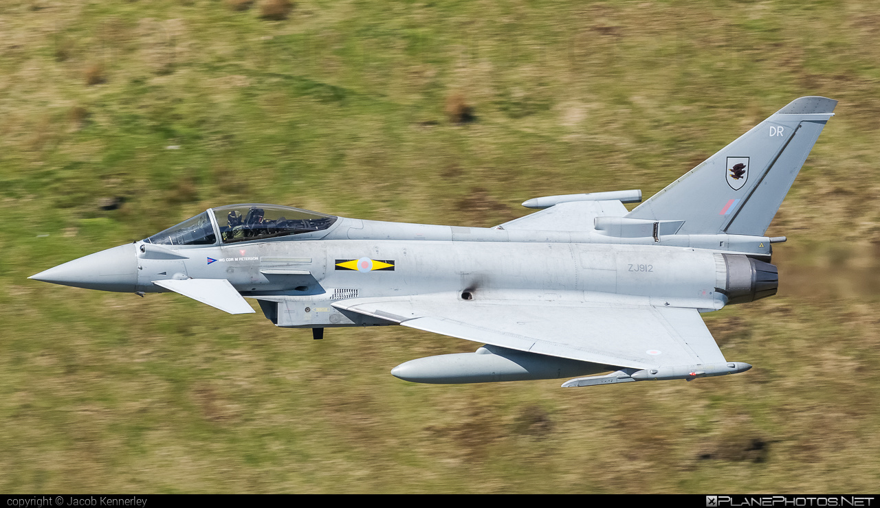 Eurofighter Typhoon FGR.4 - ZJ912 operated by Royal Air Force (RAF) #eurofighter #machloop #raf #royalairforce #typhoon