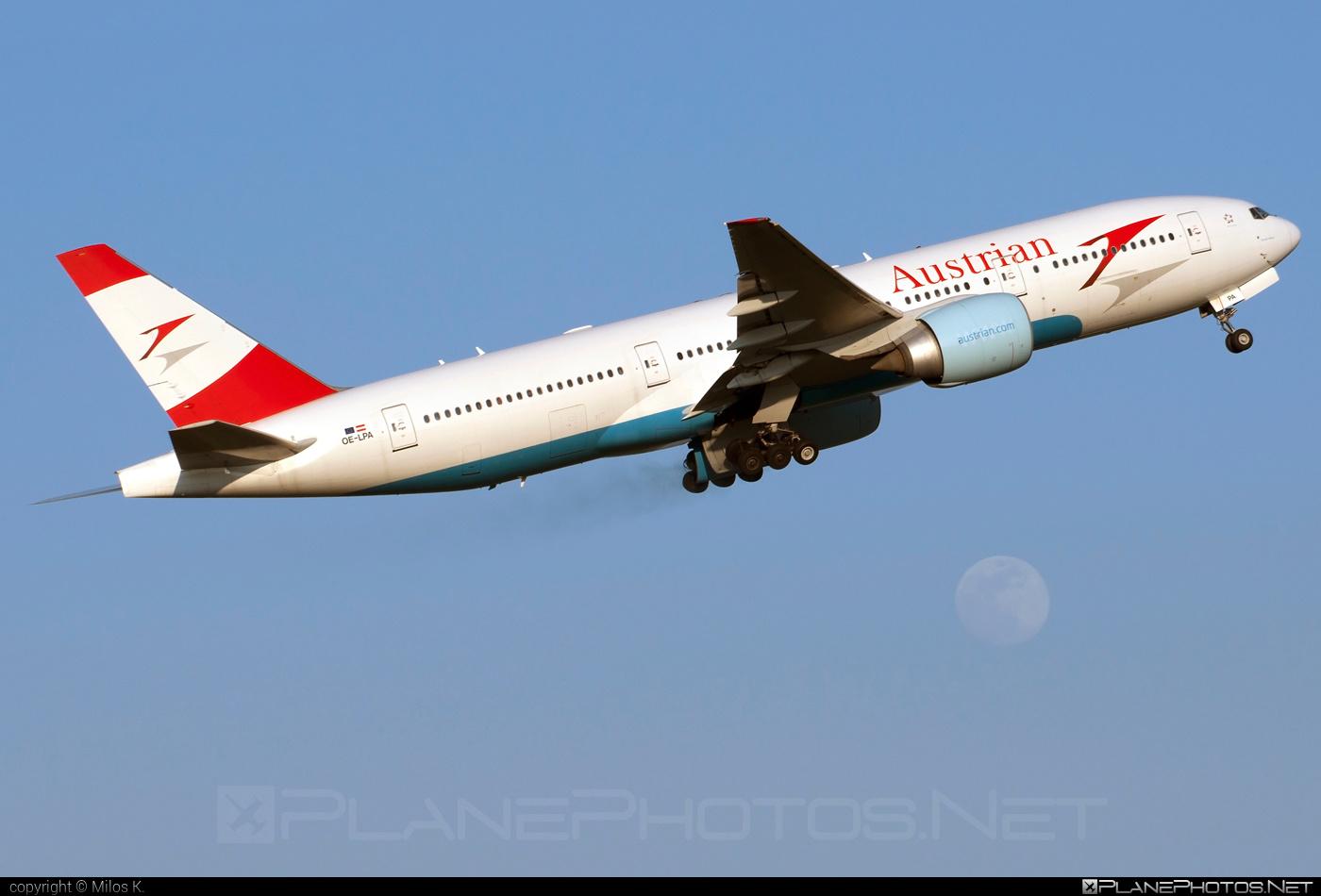 Austrian Airlines Boeing 777-200ER - OE-LPA #b777 #b777er #boeing #boeing777 #tripleseven
