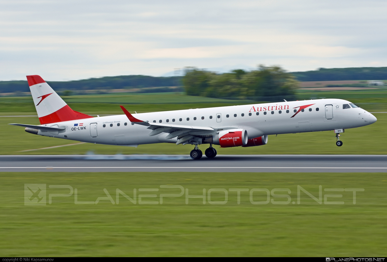 Embraer E195LR (ERJ-190-200LR) - OE-LWK operated by Austrian Airlines #e190 #e190200 #e190200lr #e195lr #embraer #embraer190200lr #embraer195 #embraer195lr