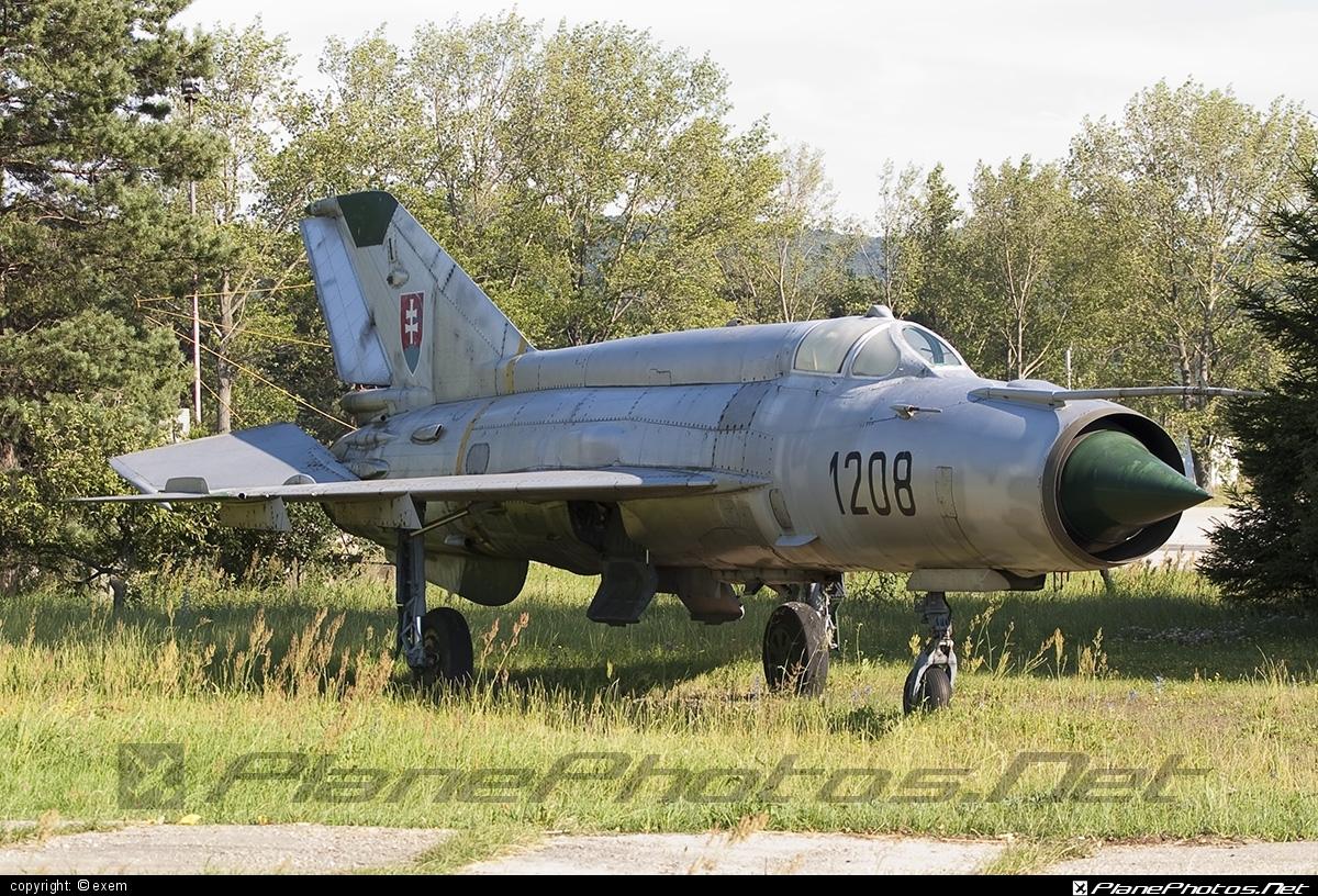 Mikoyan-Gurevich MiG-21MA - 1208 operated by Vzdušné sily OS SR (Slovak Air Force) #mig #mig21 #mig21ma #mikoyangurevich #slovakairforce #vzdusnesilyossr