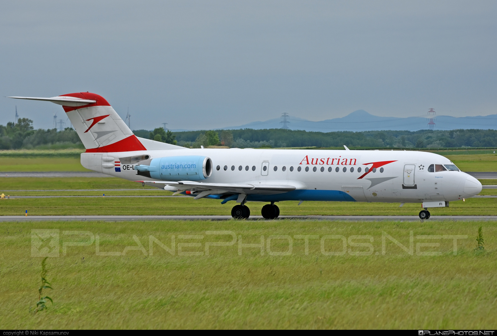 Fokker 70 - OE-LFI operated by Austrian Airlines #fokker
