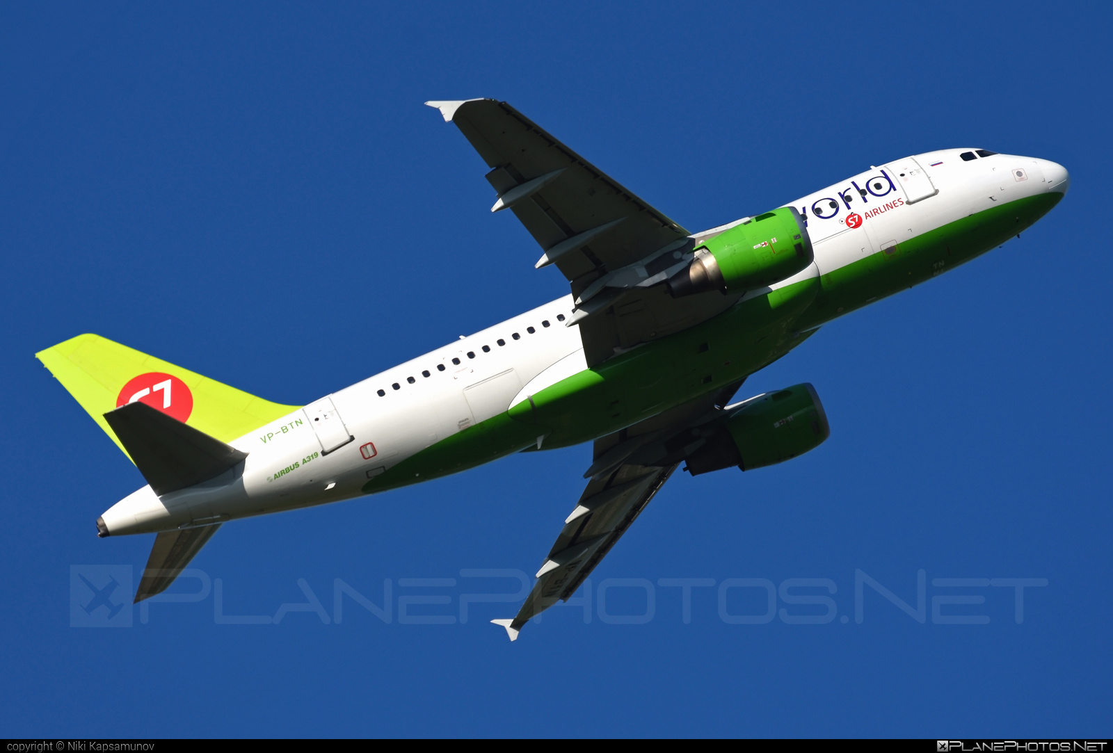 Airbus A319-114 - VP-BTN operated by S7 Airlines #a319 #a320family #airbus #airbus319 #oneworld
