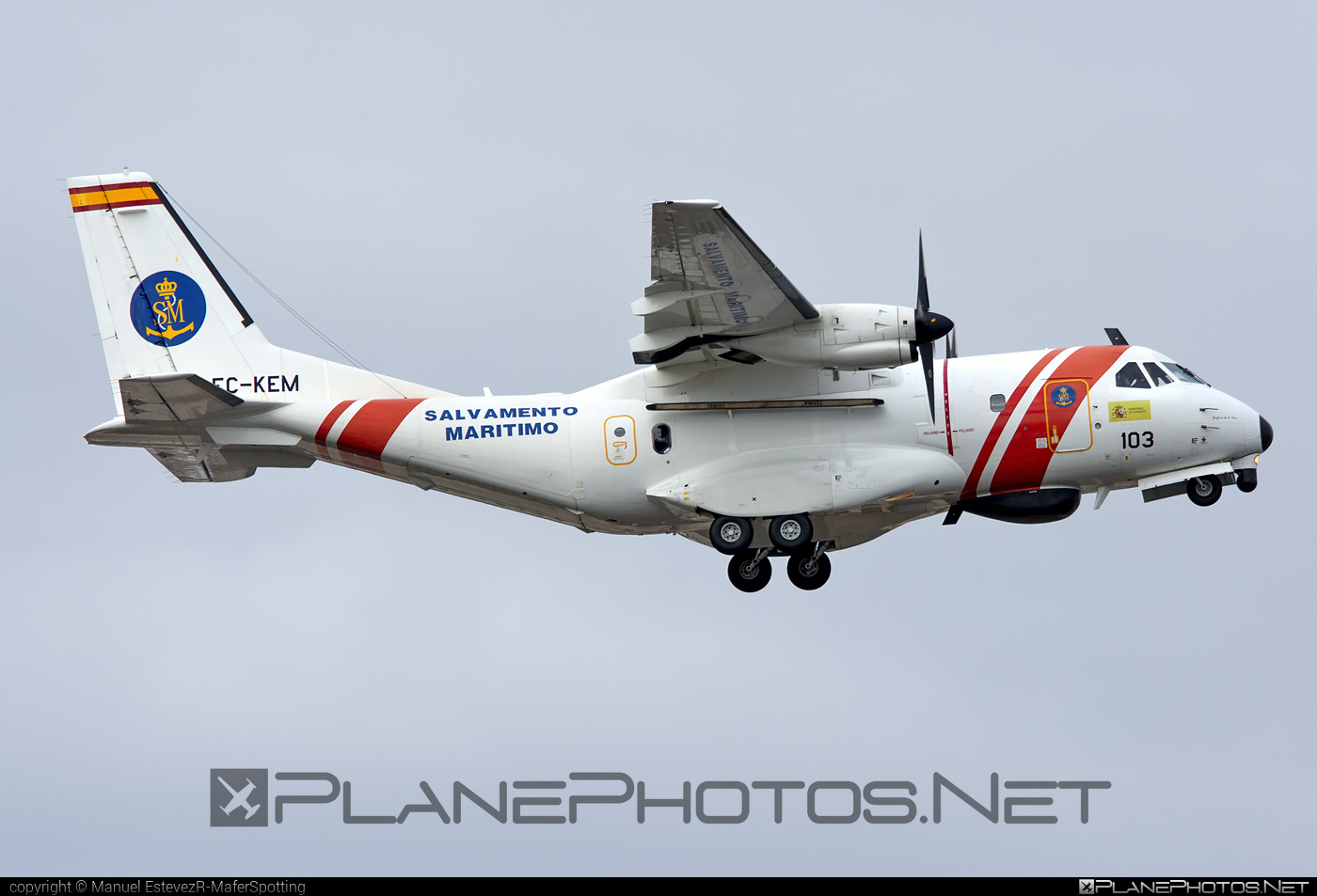 CASA CN-235 MPA - EC-KEM operated by Sociedad de Salvamento y Seguridad Marítima (Spanish Maritime Safety Agency) #casa