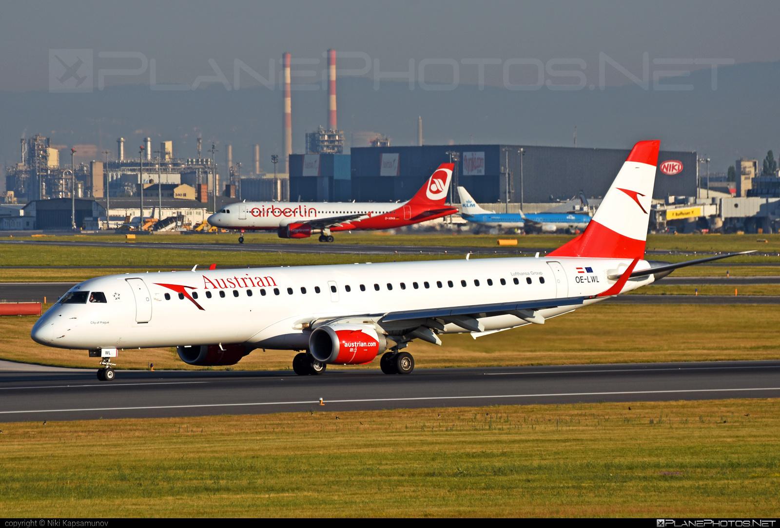 Embraer E195LR (ERJ-190-200LR) - OE-LWL operated by Austrian Airlines #e190 #e190200 #e190200lr #e195lr #embraer #embraer190200lr #embraer195 #embraer195lr