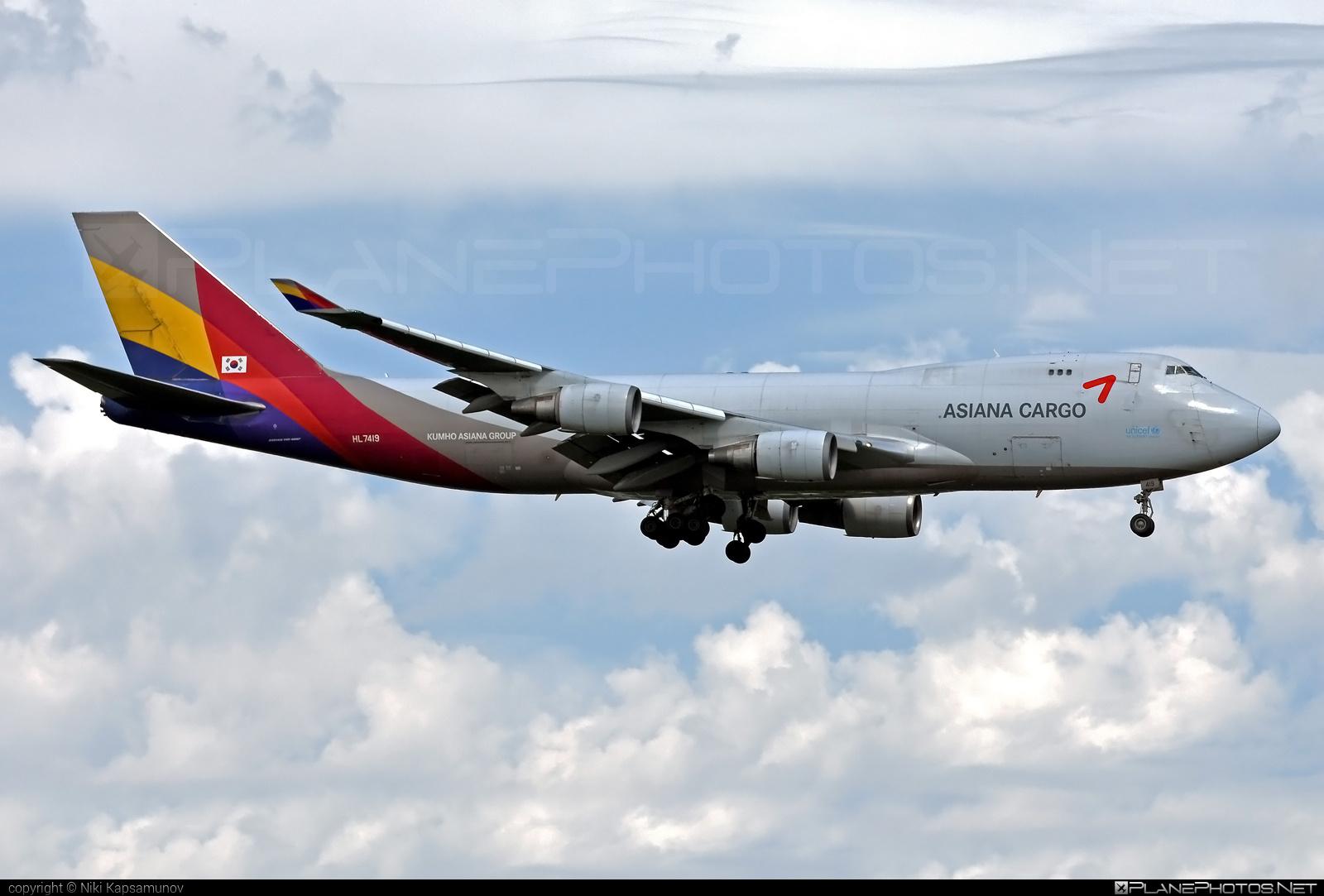 Boeing 747-400F - HL7419 operated by Asiana Cargo #asianacargo #b747 #boeing #boeing747 #jumbo