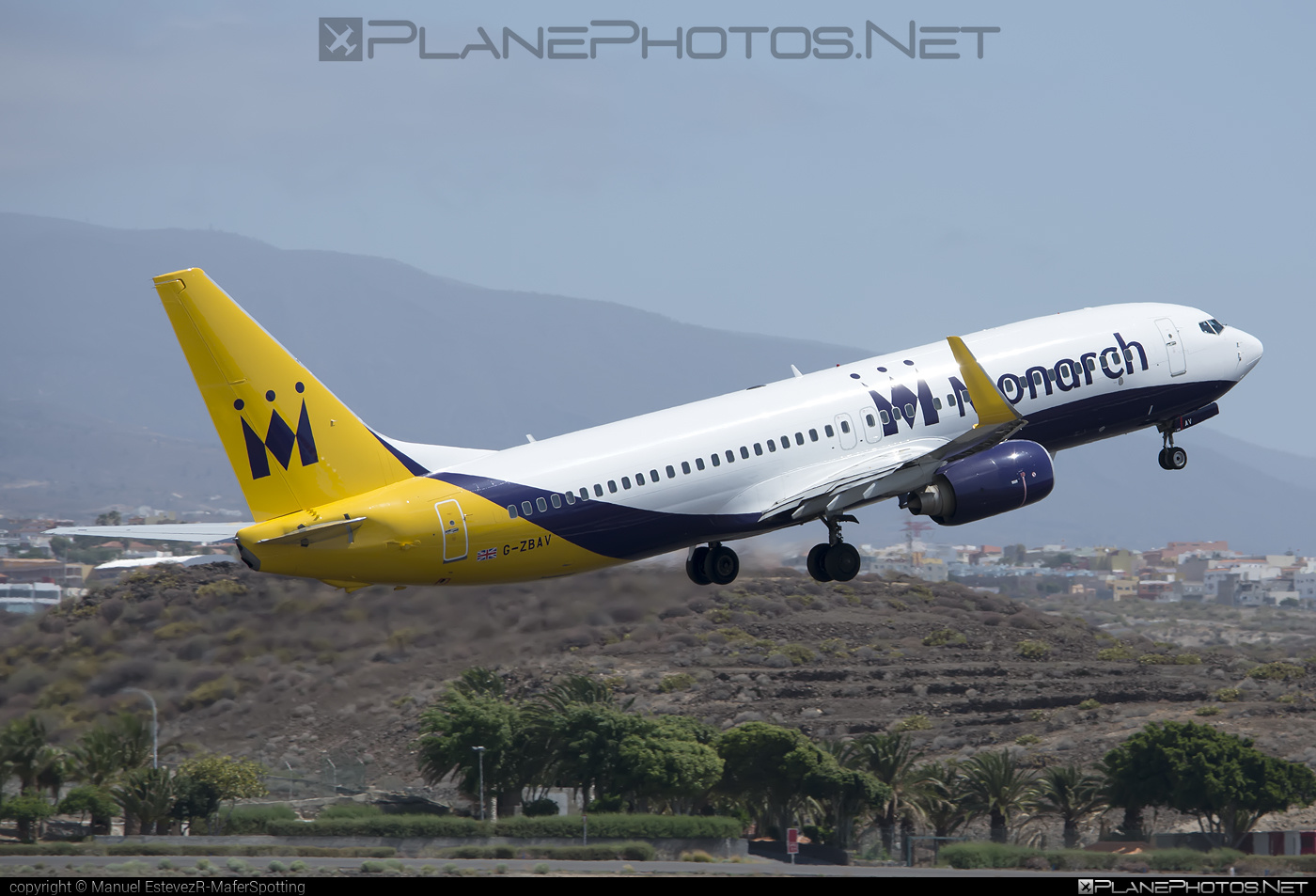Boeing 737-800 - G-ZBAV operated by Monarch Airlines #b737 #b737nextgen #b737ng #boeing #boeing737