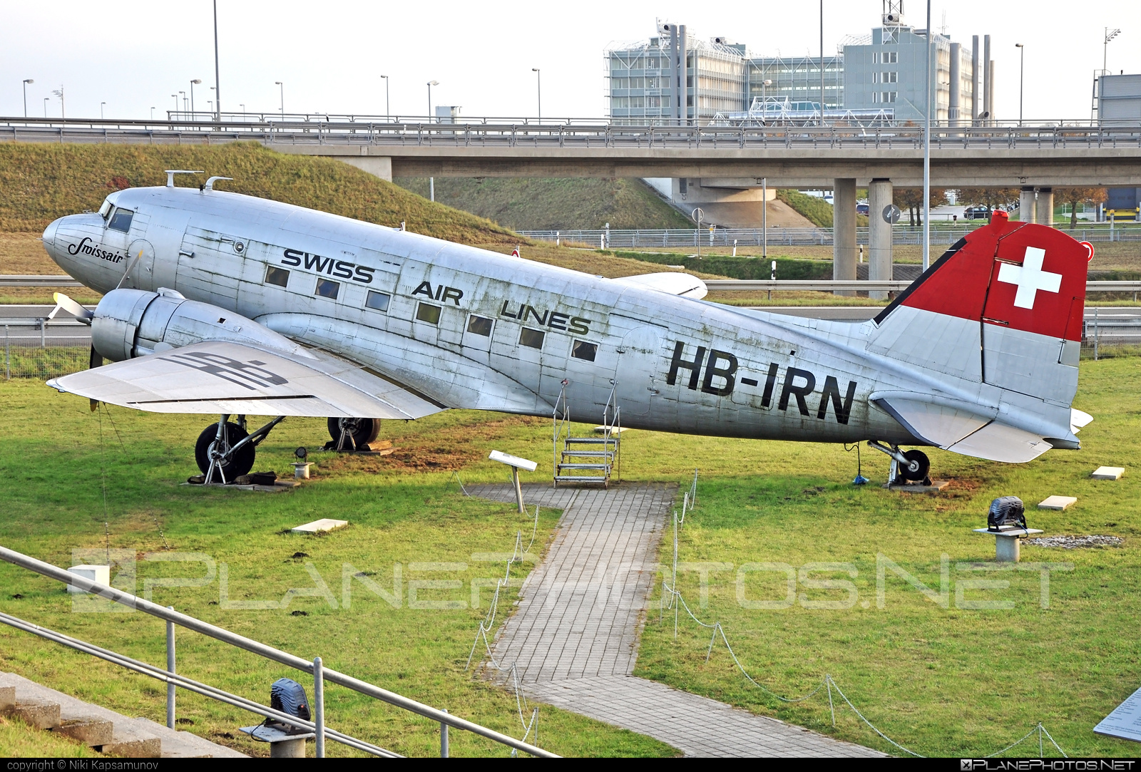 Douglas C-47 Skytrain - HB-IRN operated by Swissair #c47 #dc3 #douglas #skytrain #swissair