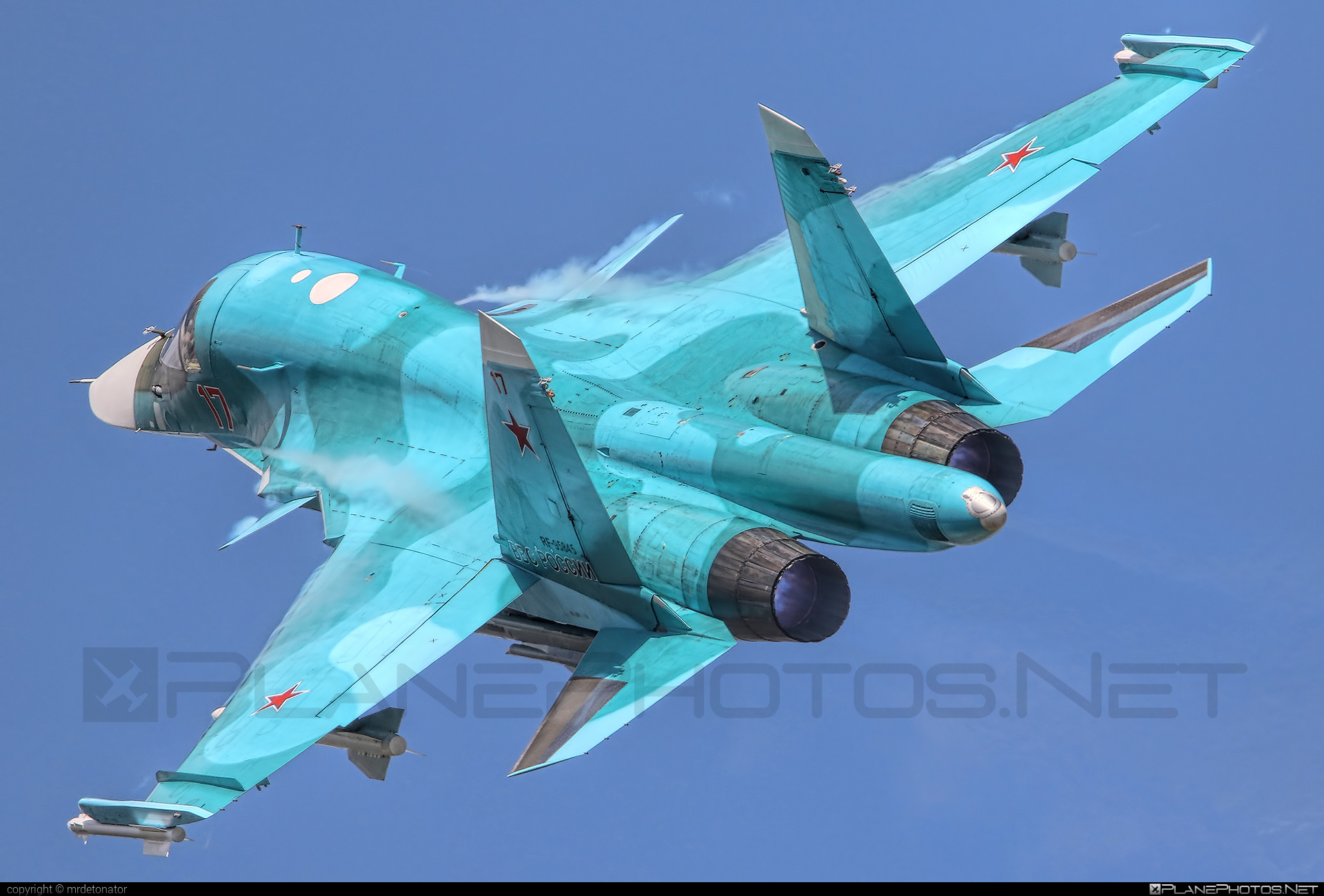 Sukhoi Su-34 - RF-95845 operated by Voyenno-vozdushnye sily Rossii (Russian Air Force) #sukhoi
