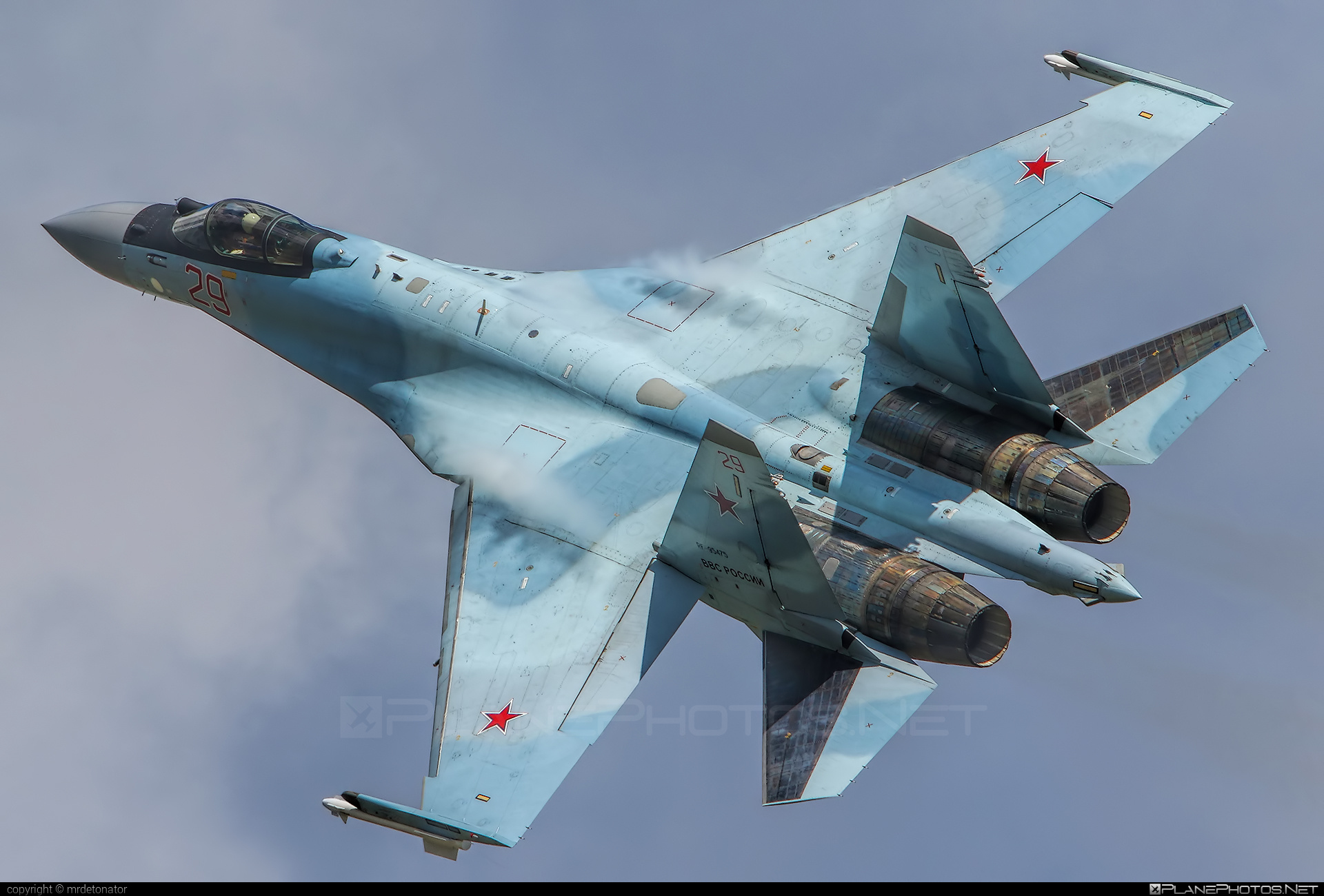 Sukhoi Su-35S - RF-95475 operated by Voyenno-vozdushnye sily Rossii (Russian Air Force) #su35 #su35s #sukhoi #sukhoi35 #sukhoisu35s