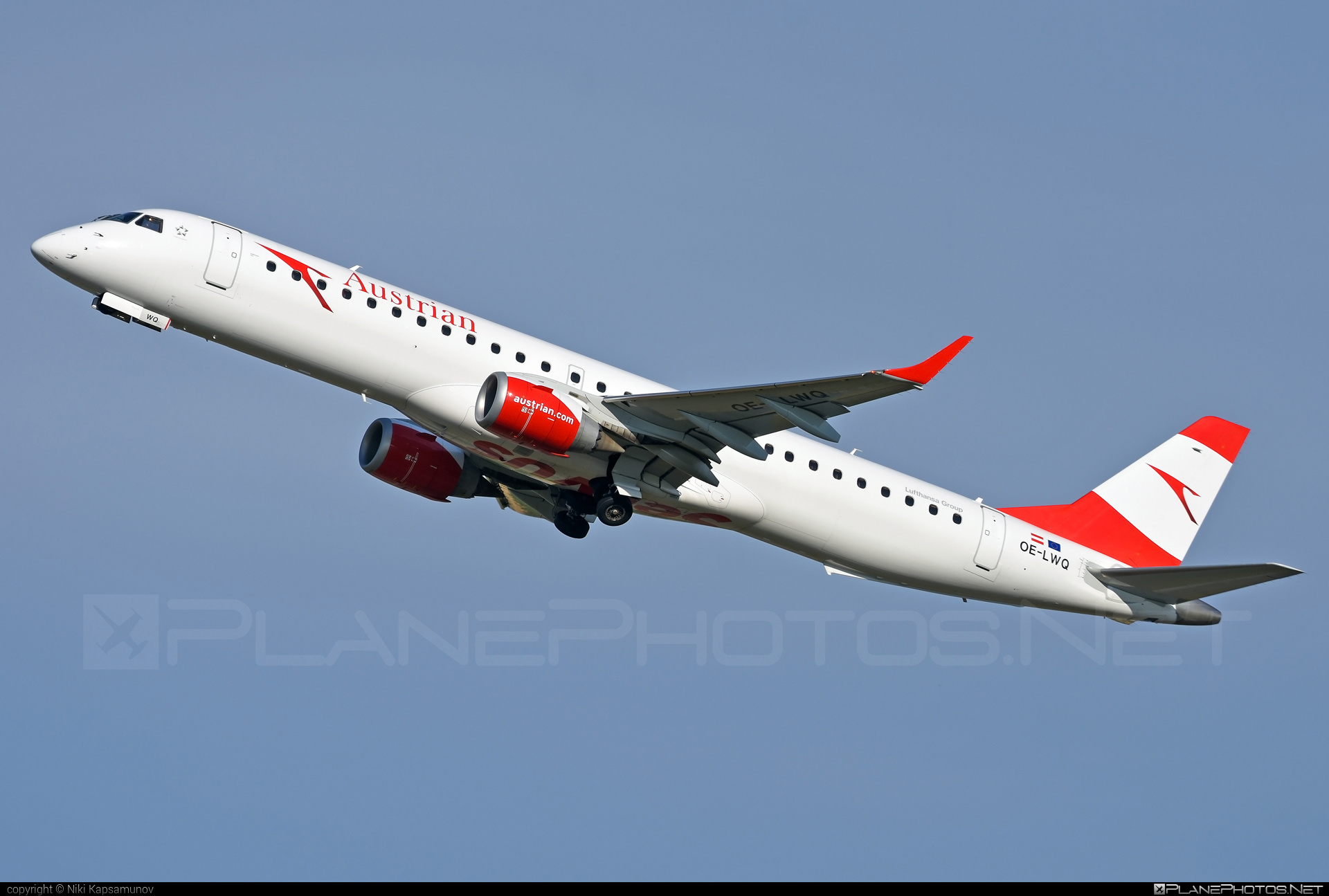 Embraer E195LR (ERJ-190-200LR) - OE-LWQ operated by Austrian Airlines #e190 #e190200 #e190200lr #e195lr #embraer #embraer190200lr #embraer195 #embraer195lr
