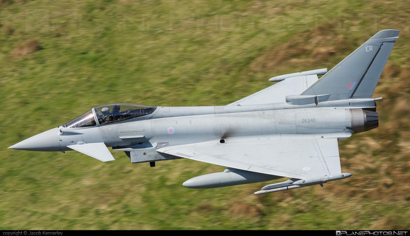 Eurofighter Typhoon FGR.4 - ZK346 operated by Royal Air Force (RAF) #eurofighter #machloop #raf #royalairforce #typhoon
