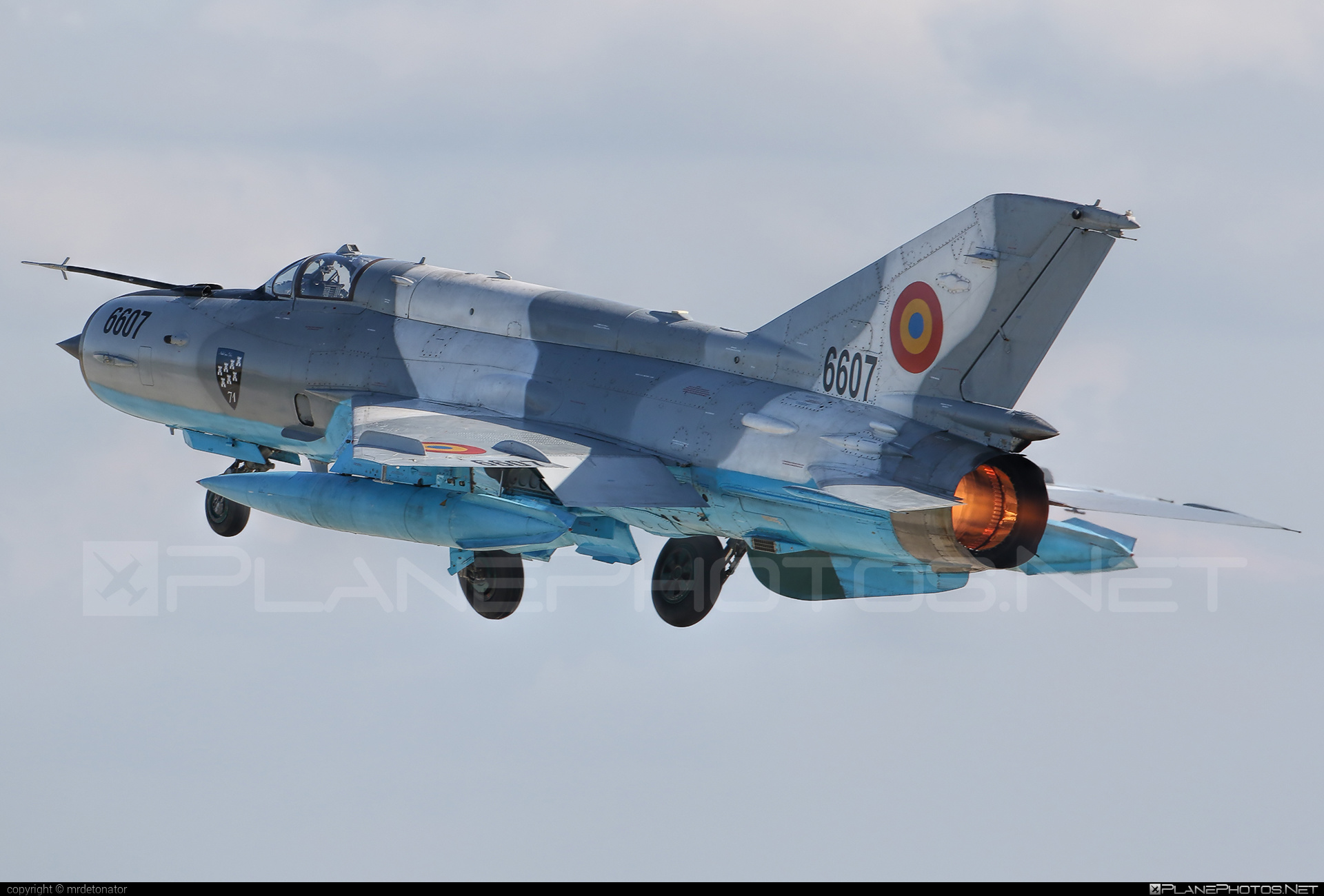 Mikoyan-Gurevich MiG-21MF - 6607 operated by Forţele Aeriene Române (Romanian Air Force) #forteleaerieneromane #mig #mig21 #mig21mf #mikoyangurevich #romanianairforce