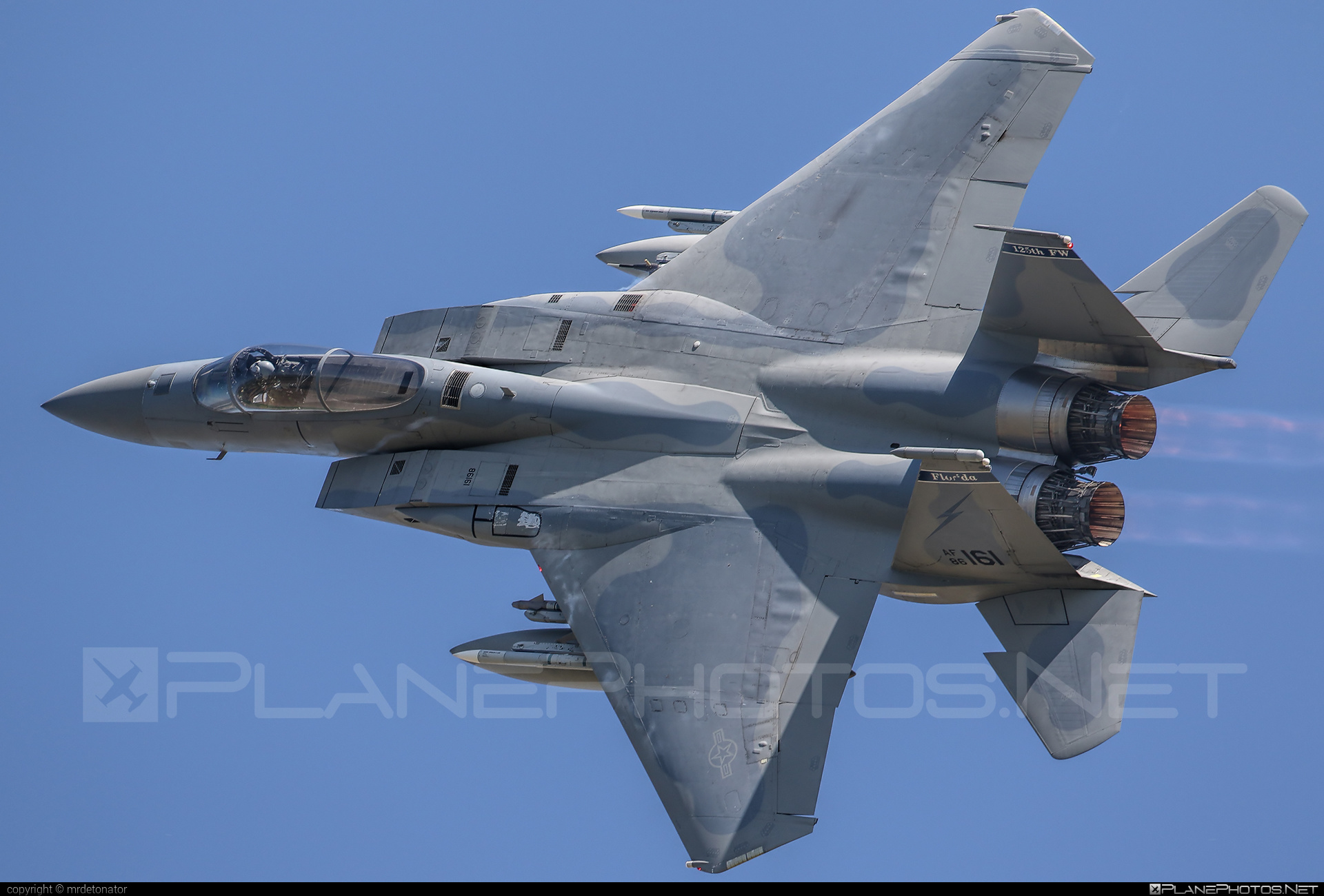 McDonnell Douglas F-15C Eagle - 86-0161 operated by Florida Air National Guard (FLANG) #mcdonnelldouglas