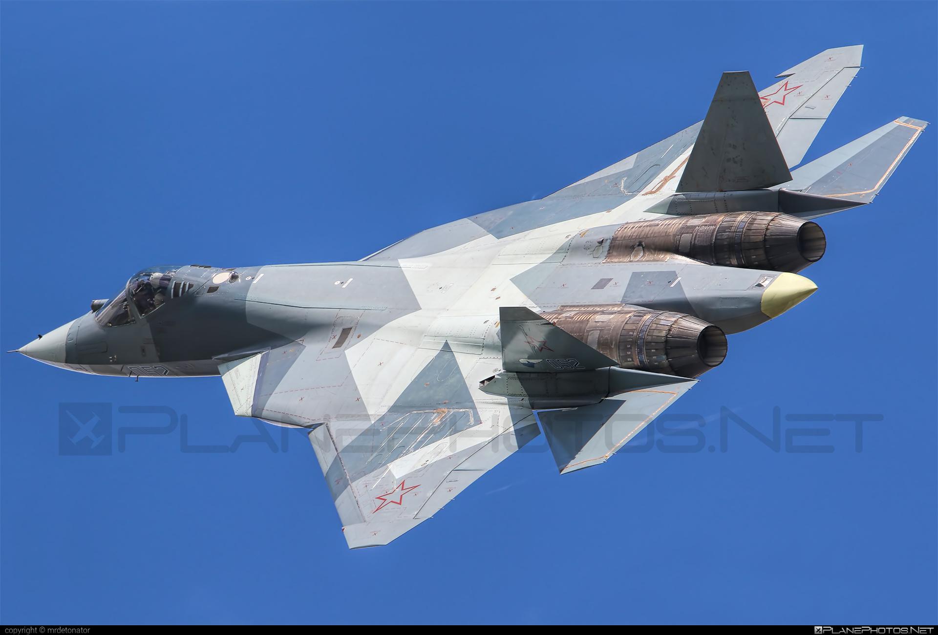 Sukhoi T-50 - 052 operated by Sukhoi Design Bureau #su57 #sukhoi #sukhoi57 #sukhoit50 #t50