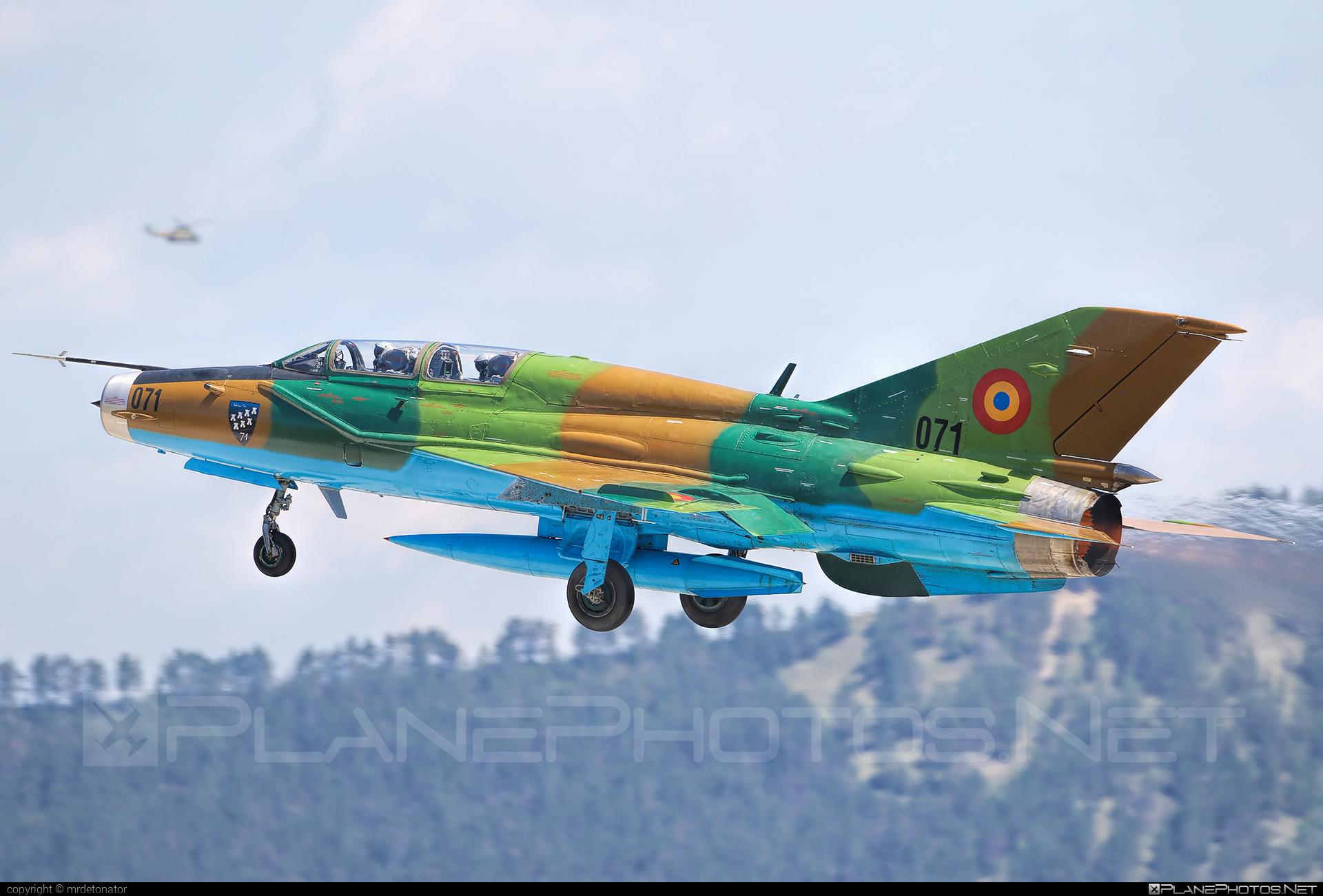 Mikoyan-Gurevich MiG-21UM - 071 operated by Forţele Aeriene Române (Romanian Air Force) #forteleaerieneromane #mig #mig21 #mig21um #mikoyangurevich #romanianairforce