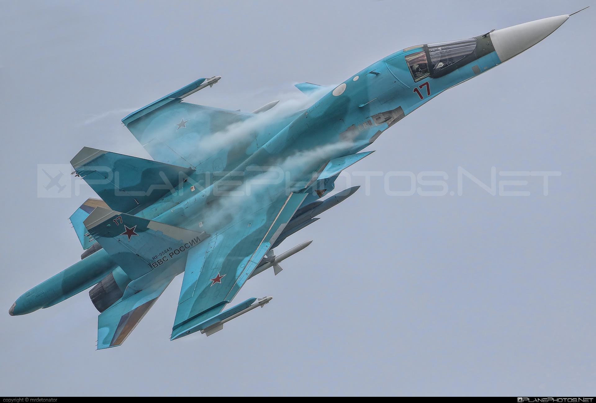 Sukhoi Su-34 - RF-95845 operated by Voyenno-vozdushnye sily Rossii (Russian Air Force) #sukhoi