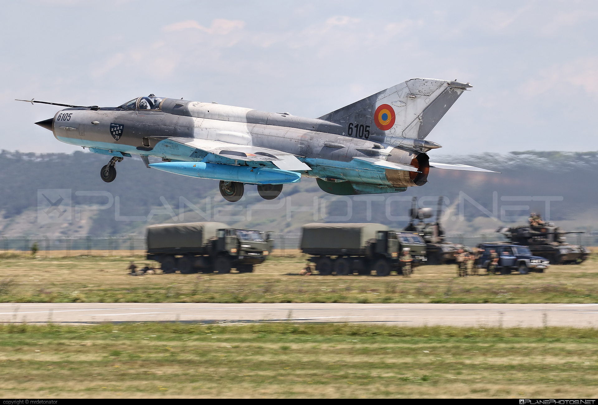 Mikoyan-Gurevich MiG-21MF - 6105 operated by Forţele Aeriene Române (Romanian Air Force) #forteleaerieneromane #mig #mig21 #mig21mf #mikoyangurevich #romanianairforce