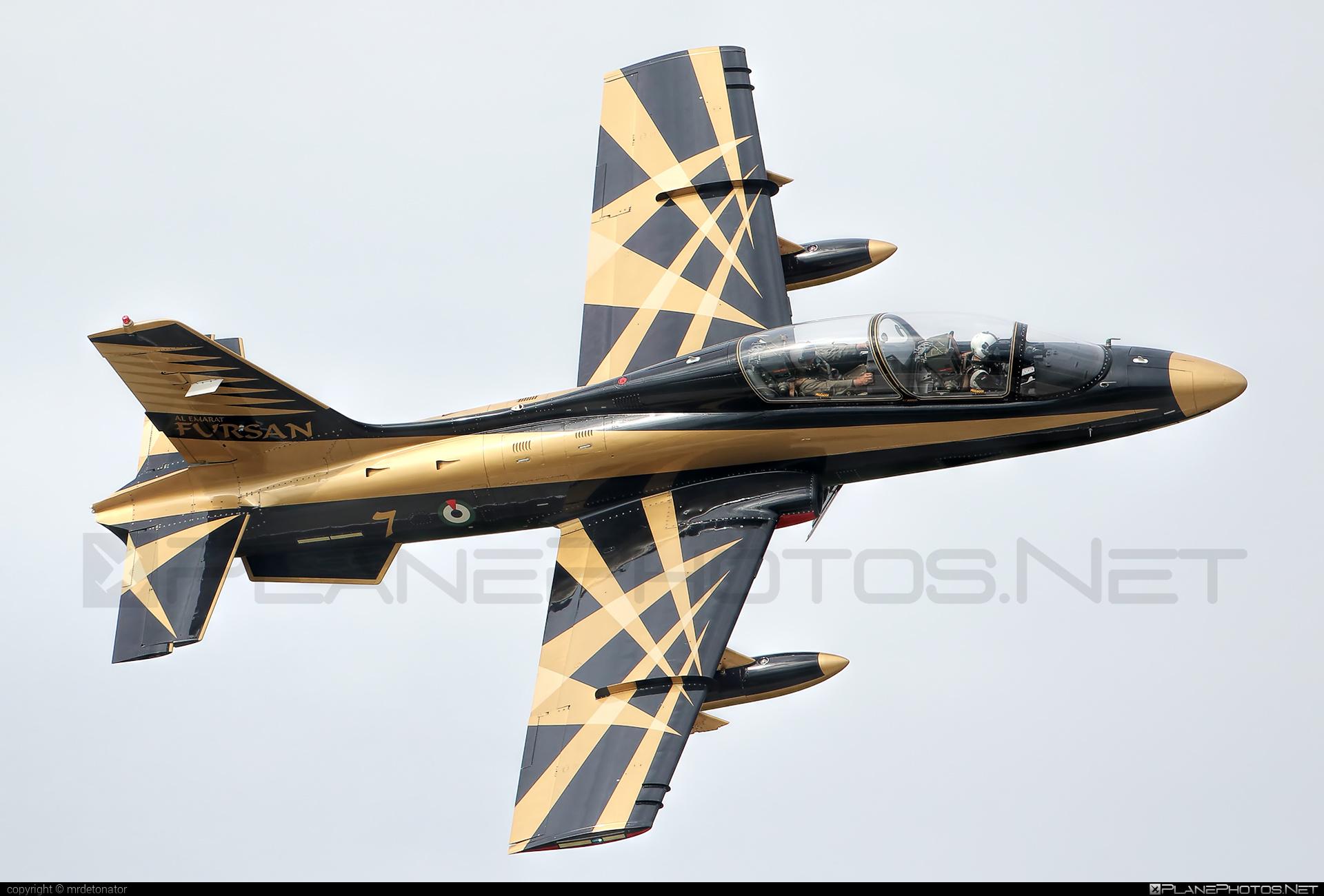 Aermacchi MB-339NAT - 438 operated by United Arab Emirates Air Force #aermacchi #mb339 #mb339nat #uaeaf #unitedarabemiratesairforce
