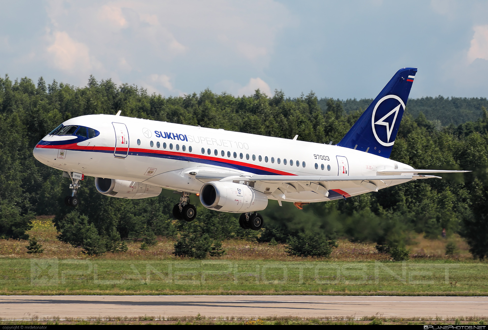 Sukhoi SSJ 100-95B Superjet - 97003 operated by Sukhoi Design Bureau #maks2017 #ssj100 #ssj10095b #sukhoi #sukhoisuperjet #superjet