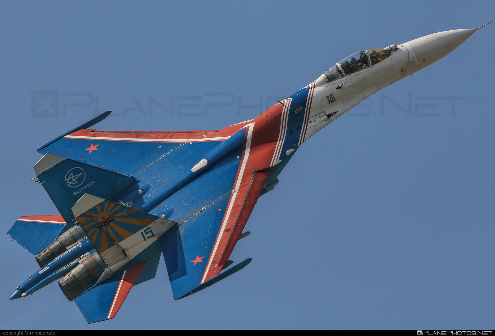 Sukhoi Su-27P - 15 operated by Voyenno-vozdushnye sily Rossii (Russian Air Force) #maks2007 #su27 #su27p #sukhoi #sukhoi27