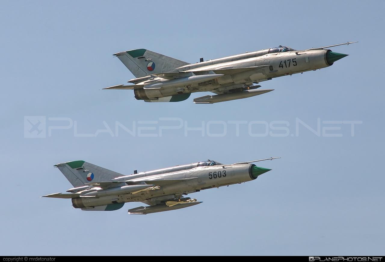 Mikoyan-Gurevich MiG-21MFN - 4175 operated by Vzdušné síly AČR (Czech Air Force) #czechairforce #mig #mig21 #mig21mfn #mikoyangurevich #vzdusnesilyacr