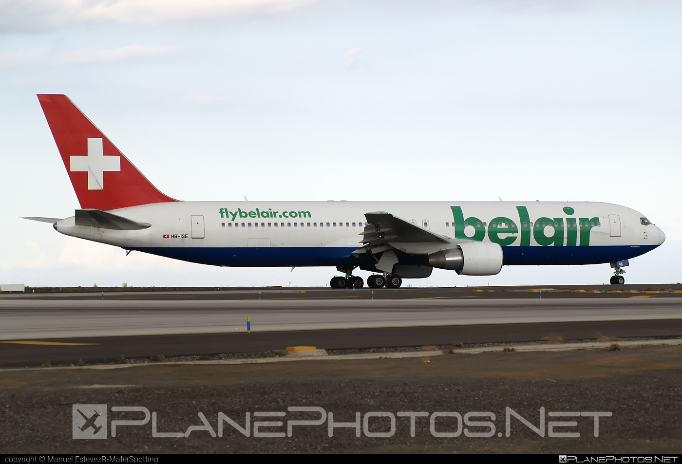 Boeing 767-300ER - HB-ISE operated by Belair Airlines #b767 #b767er #boeing #boeing767