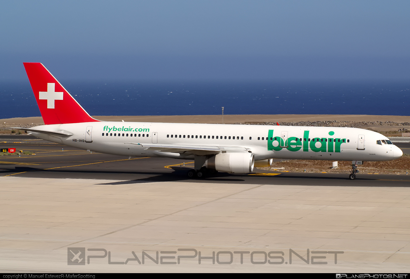 Boeing 757-200 - HB-IHS operated by Belair Airlines #b757 #boeing #boeing757
